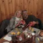 Lobster dinner in Bar Harbor, Maine