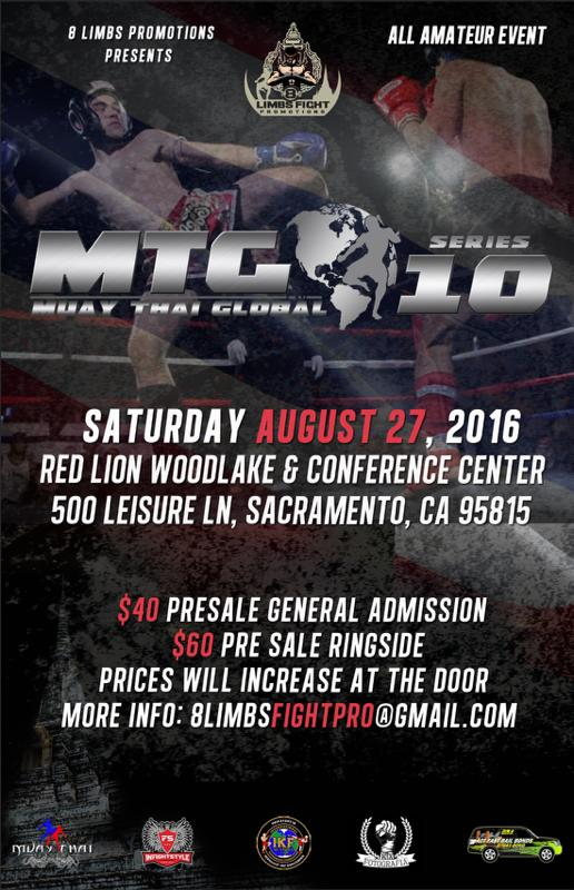 Muay Thai Global (MTG) Event Flier All Amateur Event